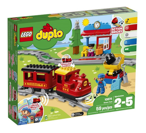 lego - 10874  tren de vapor