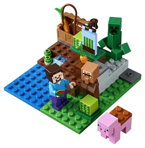 lego 21138 minecraft the melon farm jugueteria bunny toys