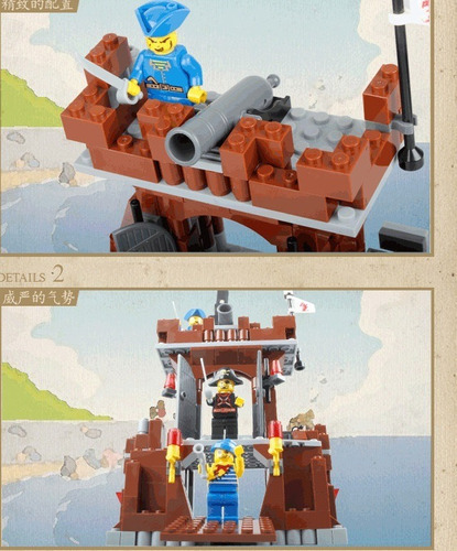 lego 2en1 cuartel barco pirata juguetes 431pcs legos juguete