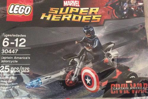 lego 30447 civil war capitán américa motocicleta polybag