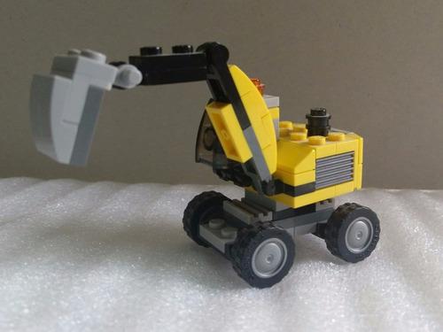 lego 31014 excavadora - 3 en 1 camión, pala - usado mh toys