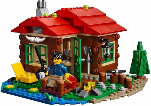 lego 31048 creator 3 em 1 - casa do lago 368 pçs