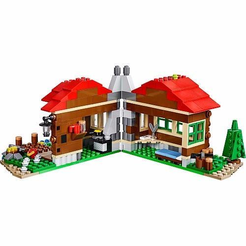 lego 31048 creator - casa do lago 368 peças set 3 em 1