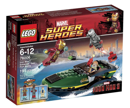 lego 76006 iron man batalla en el puerto - fair play toys