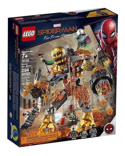 lego 76128 spider-man far from home molten man batalla 2019