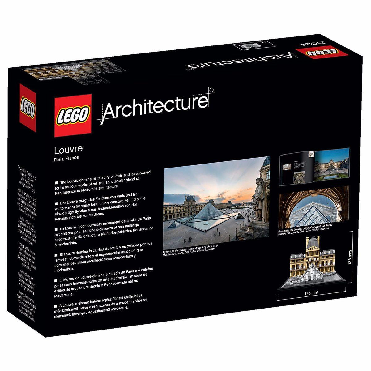Lego architecture 21024 louvre disponibilidad inmediata for Architecture 00