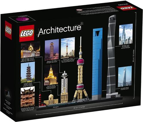 lego architecure 21039 shanghai 597 piezas