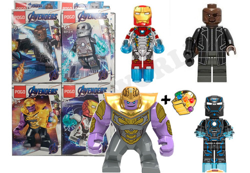lego avenger end game set 4/1 thanos spiderman iron man thor