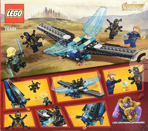 lego avengers infinity war 76101 kit de construccion 124 pza