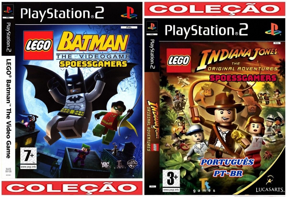 Lego Batman E Indiana Jones Português Ps2 2 Dvds Patch Me R 16