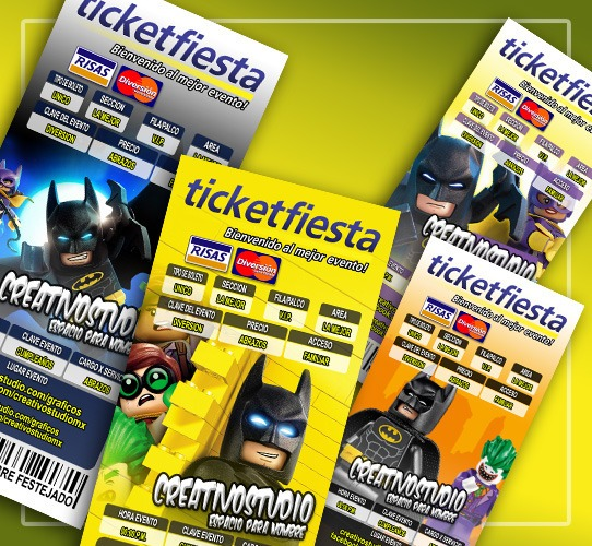 Lego Batman Invitacion Editable Photoshop Cs Diseño Vector