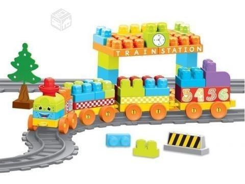 lego bloques duple tren 58 piezas