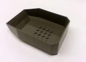 lego caçamba - 30300 - cinza escuro - 12x8x3