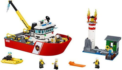 lego city 60109 fire boat - woopy