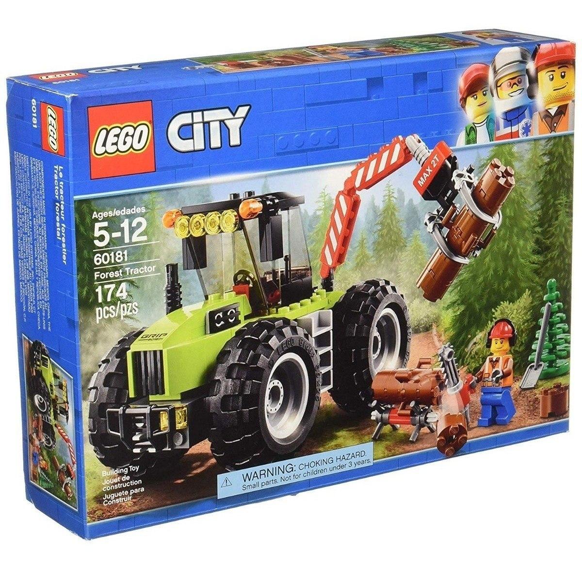 Lego City Grandes Vehículos 60181 Bosque Tractor Edad 5-12 174 un.