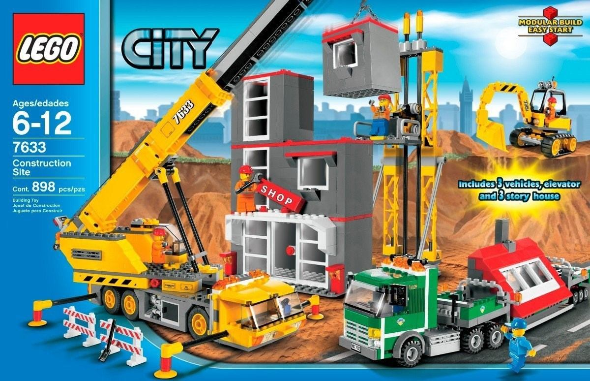 lego city canteiro de obra r 998 90 em mercado livre. Black Bedroom Furniture Sets. Home Design Ideas