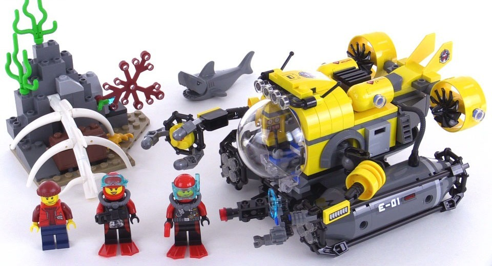 lego city deep sea submarine 60092 novo na caixa. Carregando zoom.