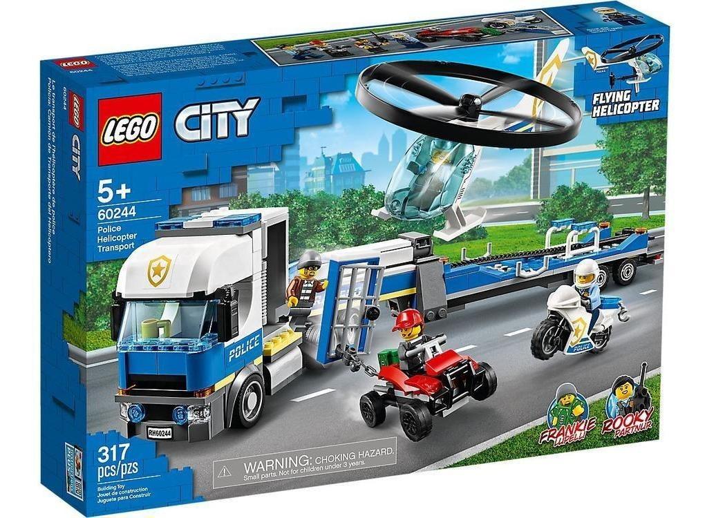 Lego City Policía  Camión De Transporte Del Helicóptero 6024