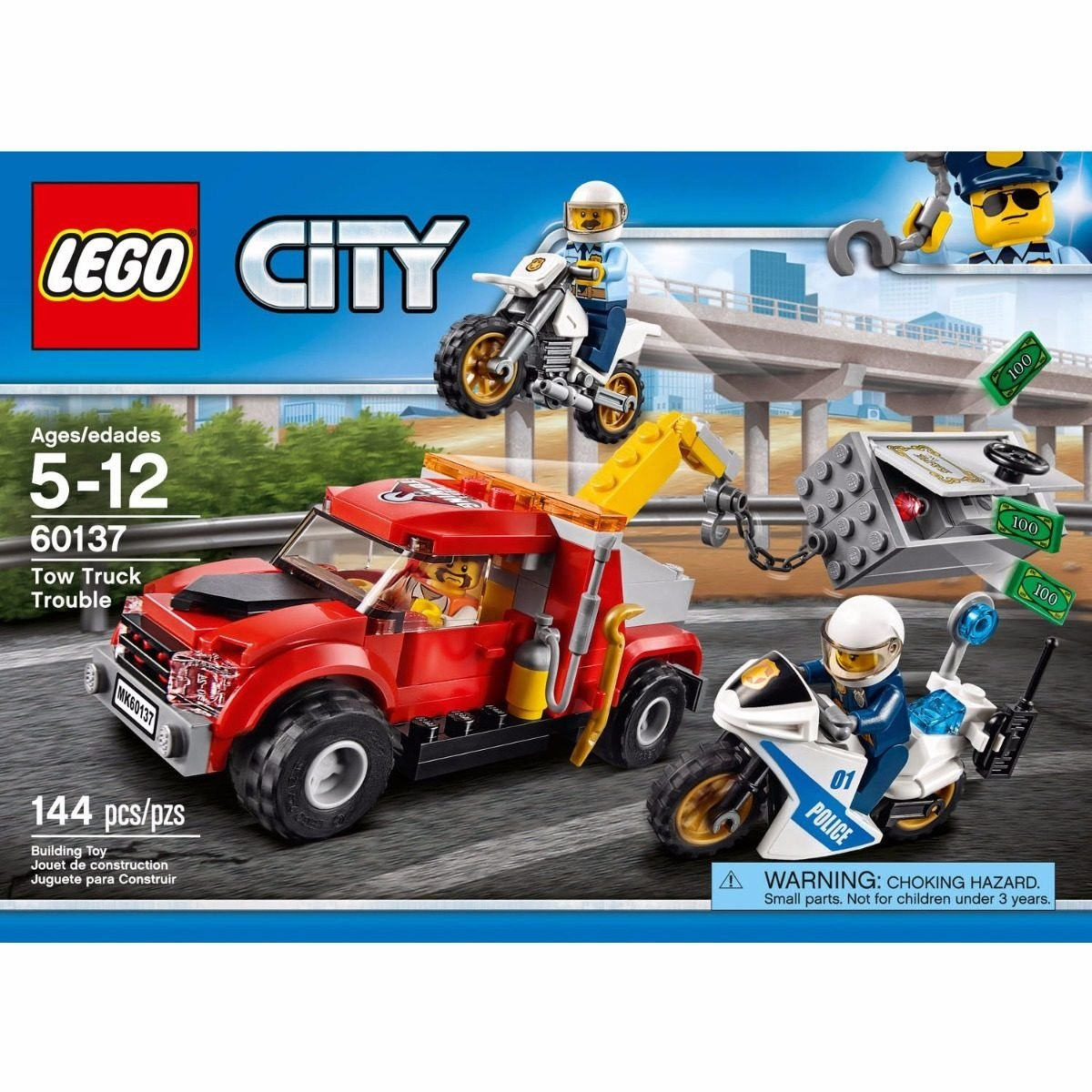 LEGO City Police Tow Truck Trouble 60137 Building Toy