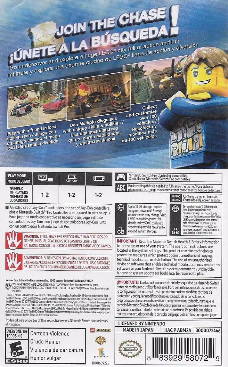 Lego City Undercover Nintendo Switch Nuevo 679 00 En Mercado Libre