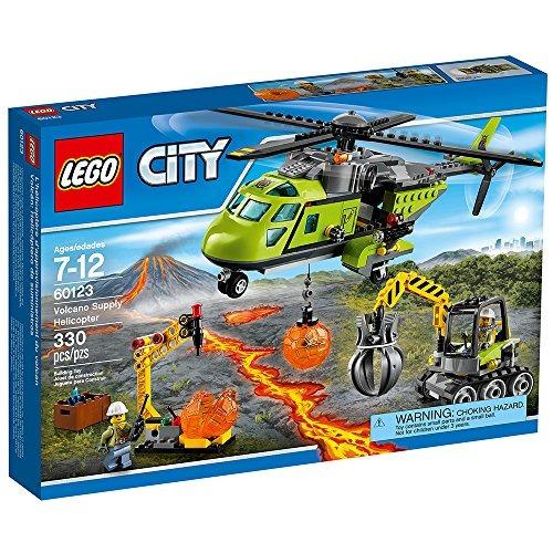 lego ciudad volcán exploradores 60123 volcán suministro heli