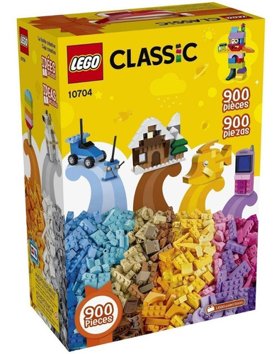lego clasico 900 pcs  creative building box set 10704