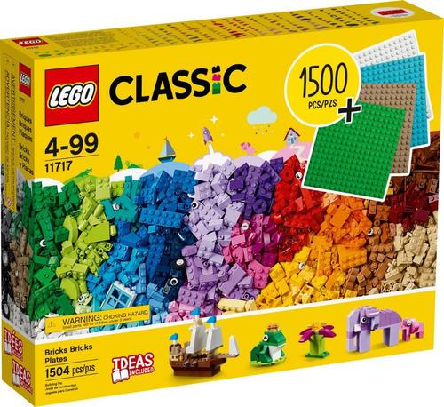 lego clasico caja de 1500 fichas 11717 + 4 placas original