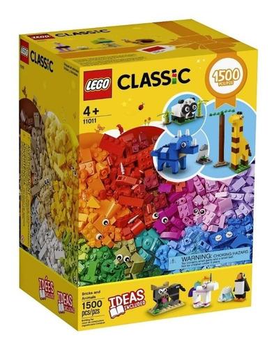 lego classic 11011 ladrillos y animales 1.500 piezas