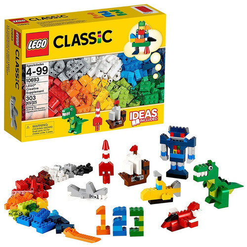 lego classic complementos creativos 303 piezas 10693