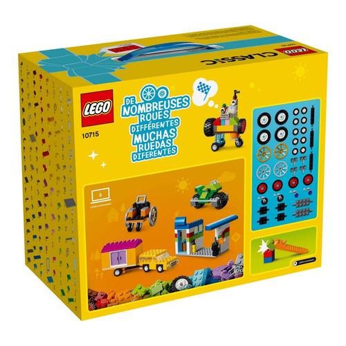 lego classic - engrenagens e rodas - 442 peças - 10715