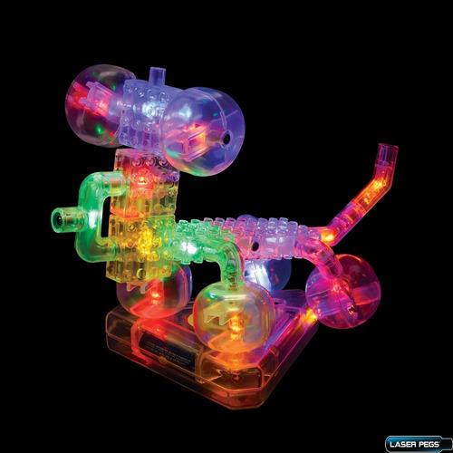 lego construction laser pegs robot 20 piezas luz led 6 en 1