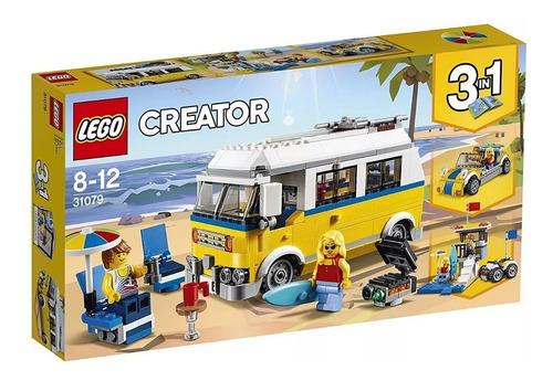 lego creator 31079 furgoneta de playa sobre ruedas juguetes