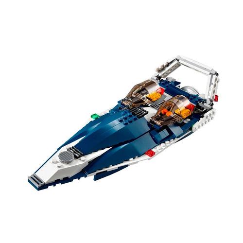 lego creator avião a jato azul 3 em 1 608 peças 31039