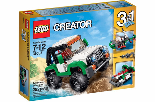 lego creator - veículos de aventura 3 em 1 - 31037 - 282 pcs