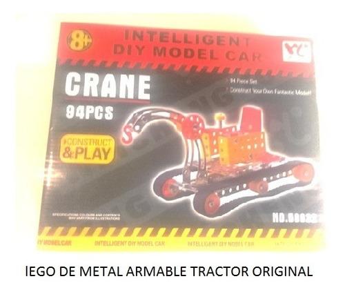 lego de metal armable tractor