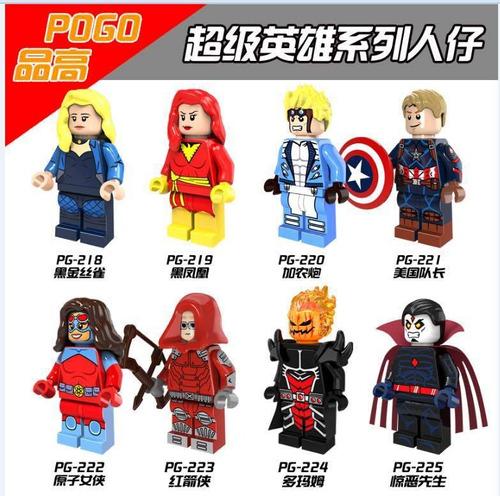 lego de super héroes y villanos.