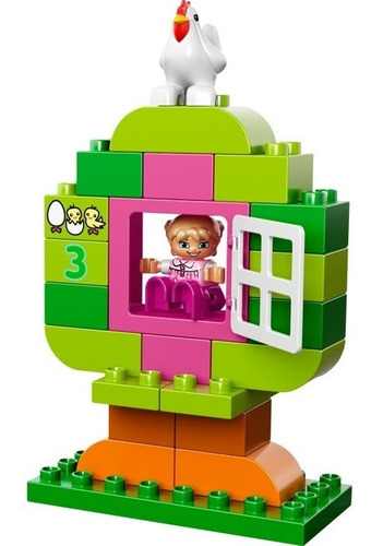 lego duplo 10571 caja rosa de diversión 65 pzs(60v)