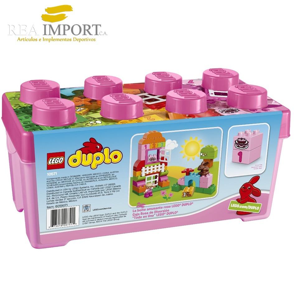 Lego duplo 65 piezas para ni os 1 5 a os caja rosa 10571 for Piezas para bebes