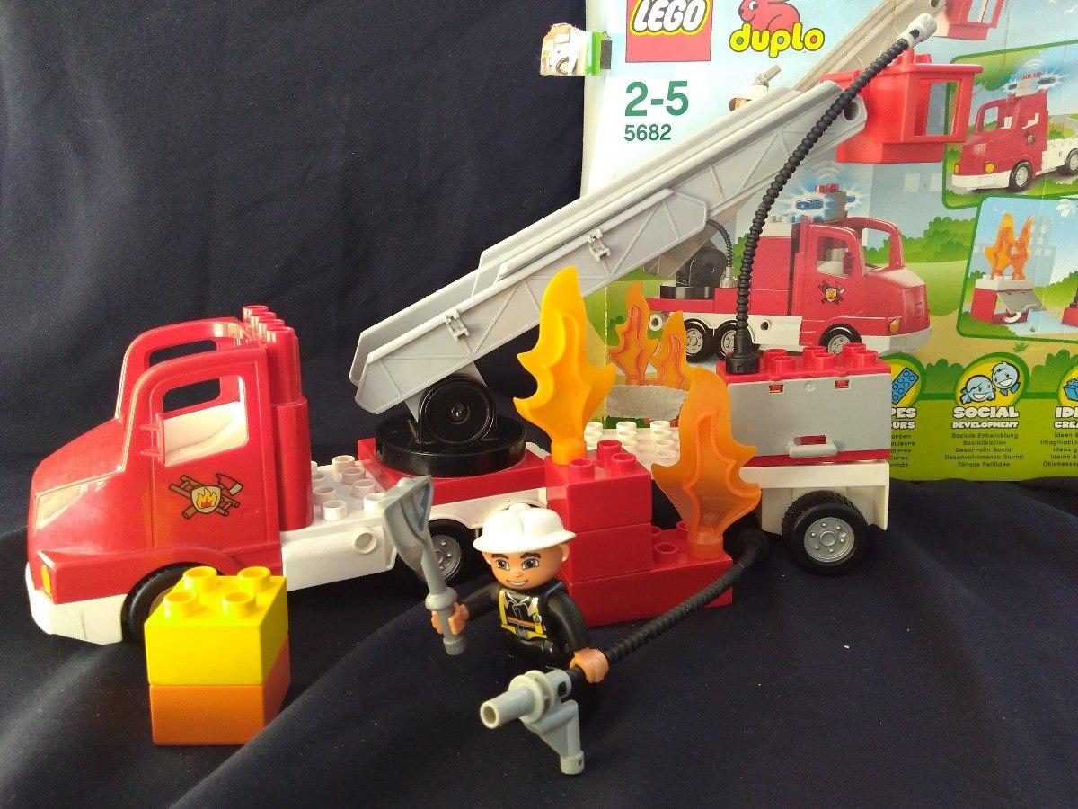 Lego Duplo Bombero 5682 Usado 34600 En Mercado Libre Fire Truck Cargando Zoom