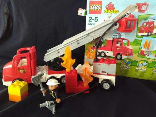 lego duplo bombero 5682 usado