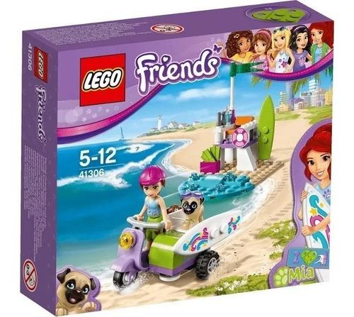 lego friends - 41036 - mia beach scooter - original