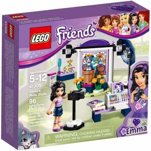 lego friends - 41305 - emma photo estudio - original