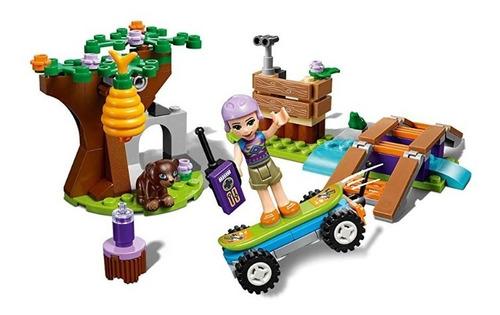 lego friends mia's forest adventure 41363-(134 piezas)