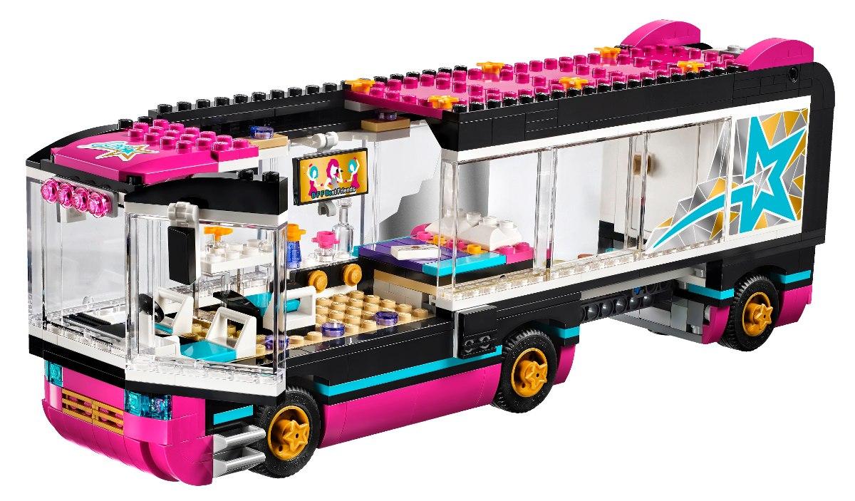 Lego friends o onibus de turn da pop star 41106 682 - Lego friends casa de livi ...