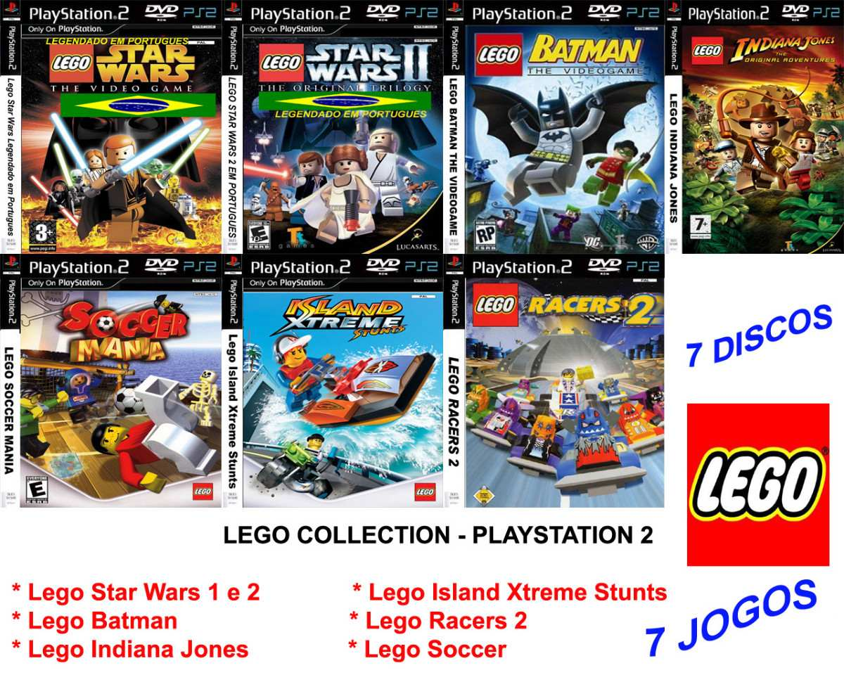 Lego Games Collections Playstation 2 Frete Gratis R 7000
