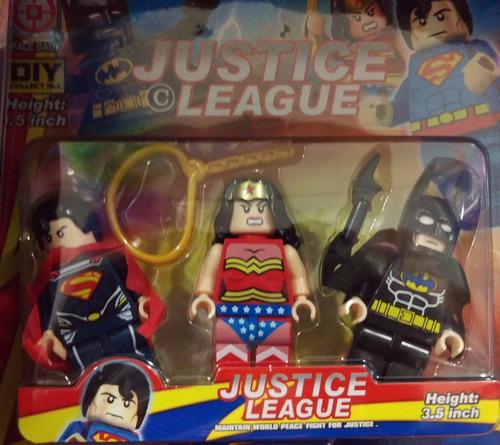 lego grande x3 ironman batman hulk capitan amer hombre araña