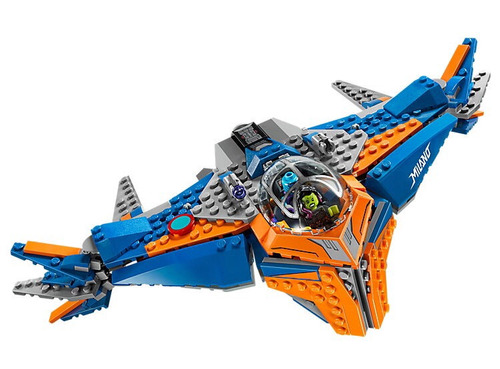 lego guardianes de la galaxia 76081 the milano vs abilisk