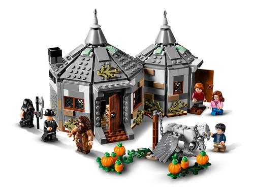 lego harry potter cabana de hagrid o resgate buckbeak
