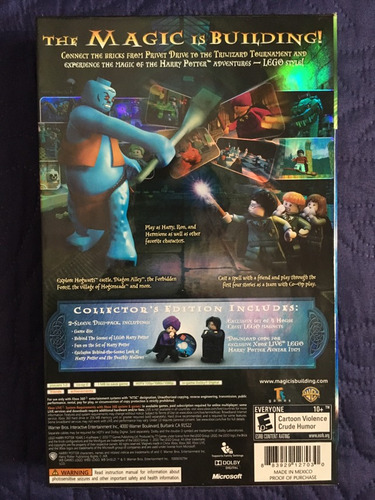lego harry potter years 1-4 edición limitada xbox 360