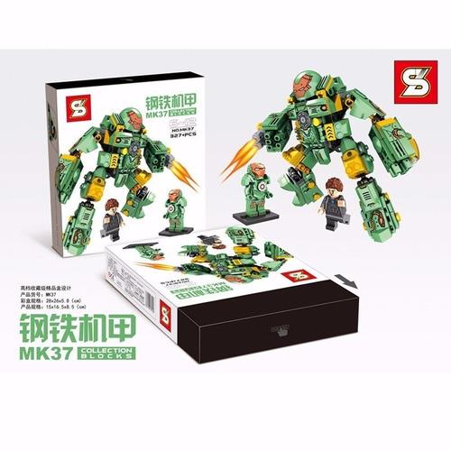 lego hulk buster verde mk37 iron man homem ferro marvel br45